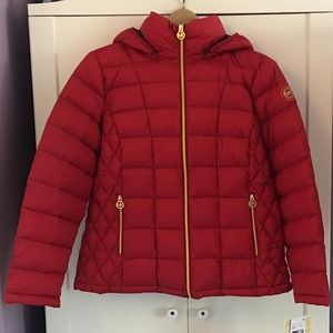Michael Kors Packable Down Coat | red | PXL